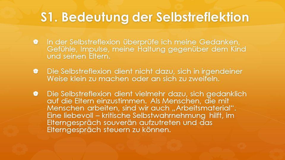 S1. Bedeutung der Selbstreflektion S1.