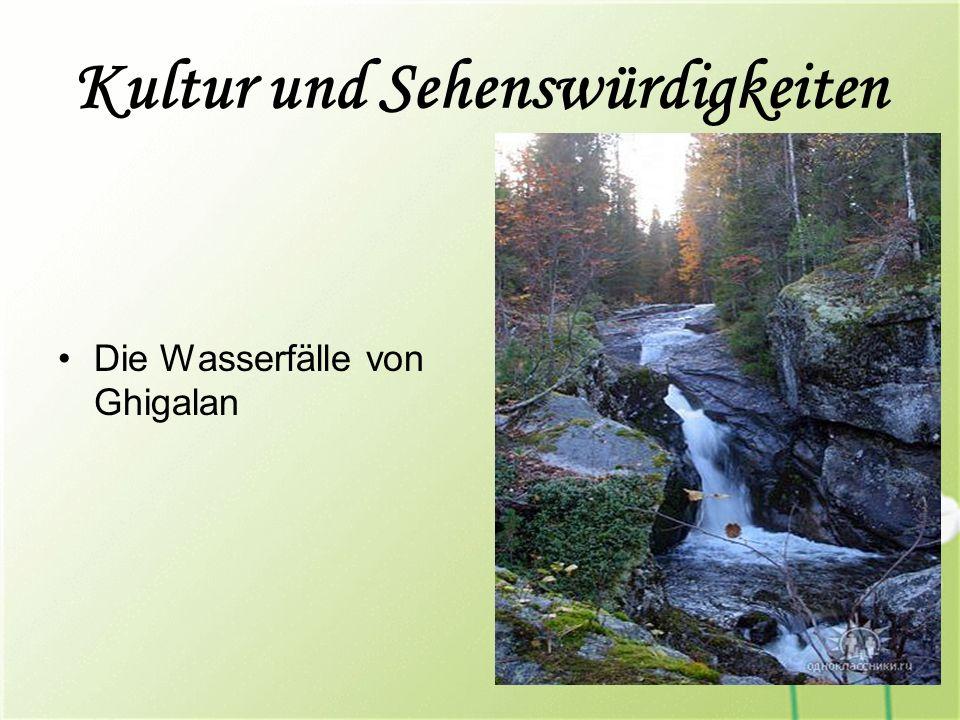 Kultur und Sehenswürdigkeiten Die Wasserfälle von Ghigalan