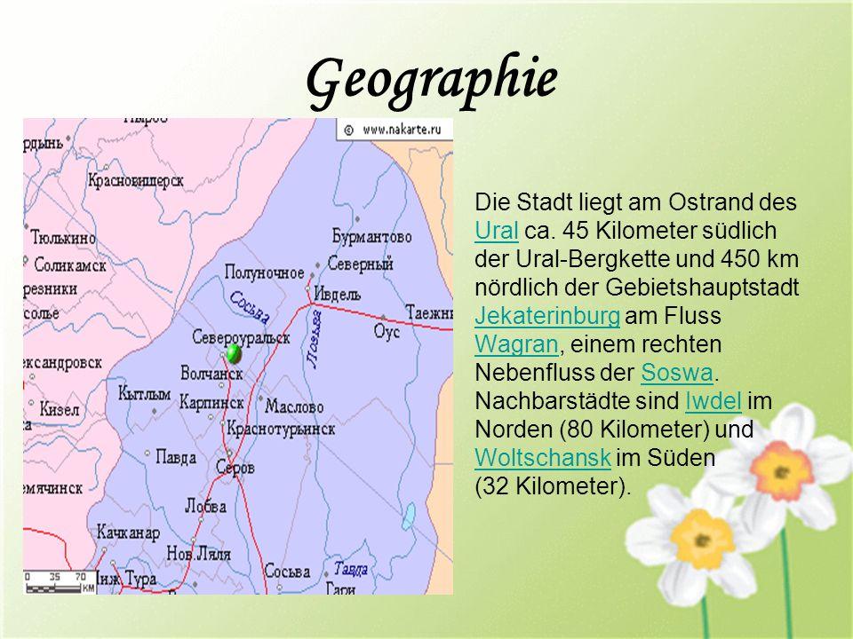 Geographie Die Stadt liegt am Ostrand des Ural ca.