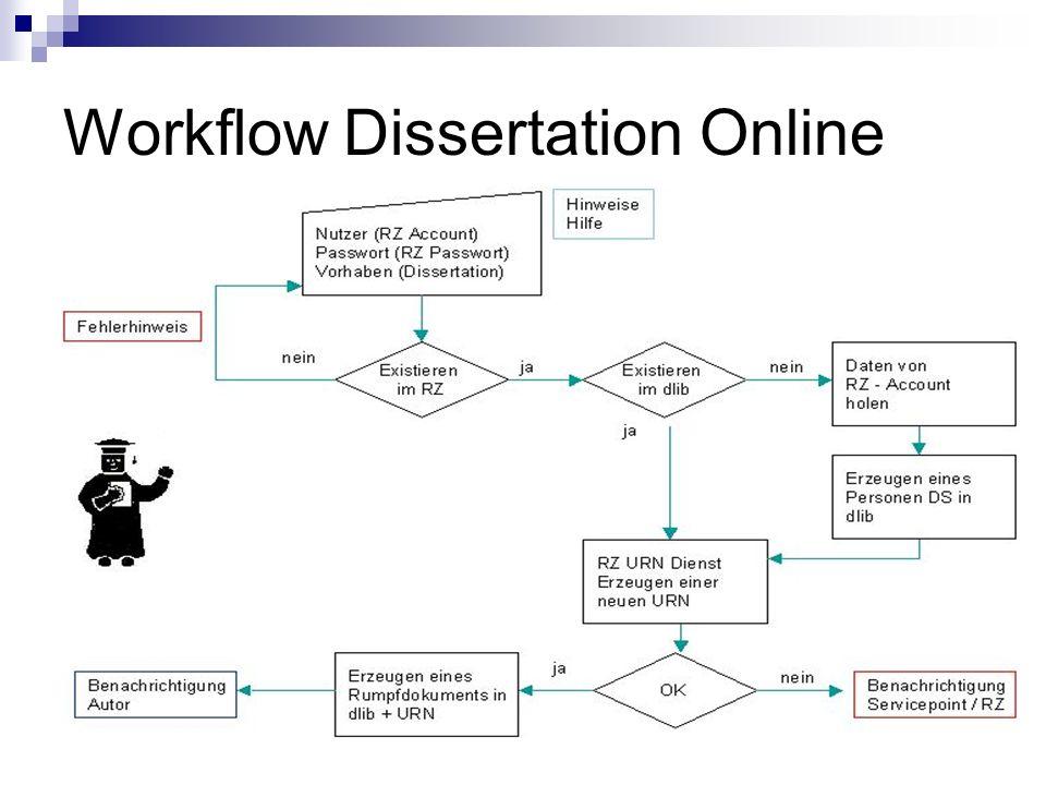 Workflow Dissertation Online