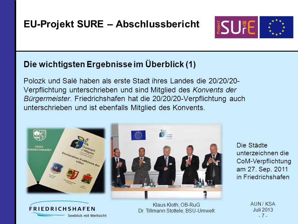 Welchen Nutzen haben die Partnerstädte aus dem Projekt gewonnen (5): Der CoM-Ansatz ermöglichte ein gegenseitiges Lernen, ob in dem Tandem EU-EU-Stadt, EU-ENP-Stadt (Friedrichshafen – Polozk) oder auch zwischen den Städten aus dem ENP-Süd- und Ostraum.