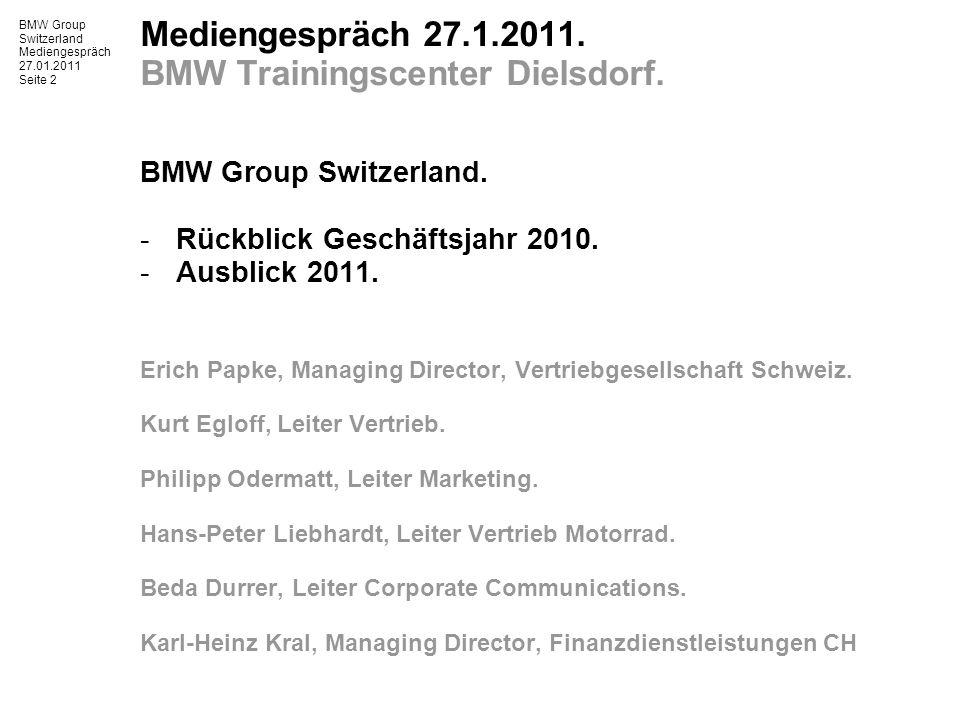 BMW Group Switzerland Mediengespräch 27.01.2011 Seite 3 BMW Group 2010.