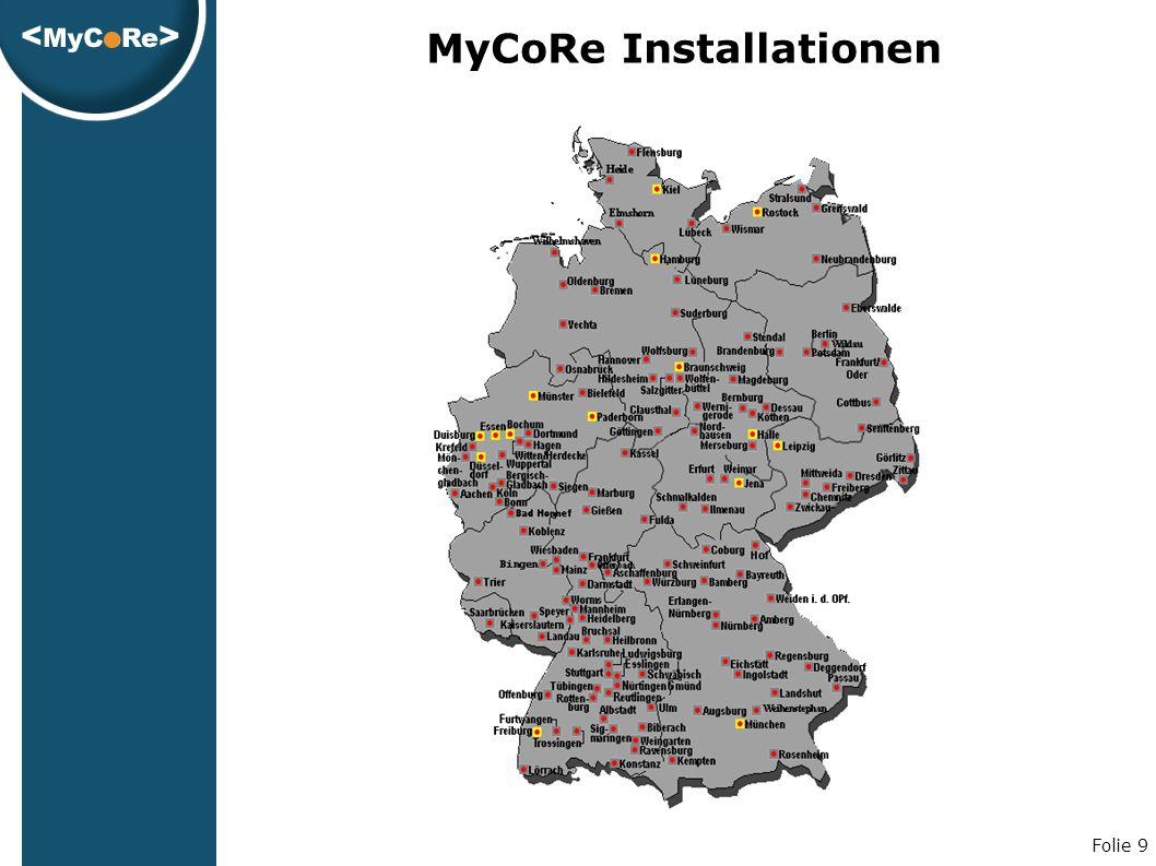 Folie 9 MyCoRe Installationen