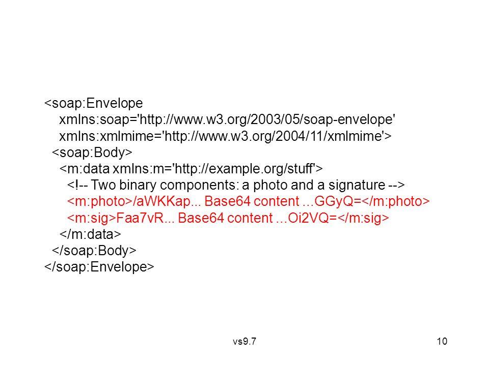 vs9.7 10 <soap:Envelope xmlns:soap='http://www.w3.org/2003/05/soap-envelope' xmlns:xmlmime='http://www.w3.org/2004/11/xmlmime'> /aWKKap... Base64 cont