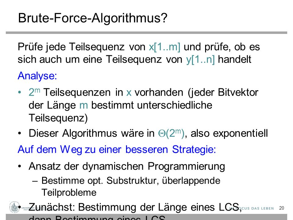 Brute-Force-Algorithmus.