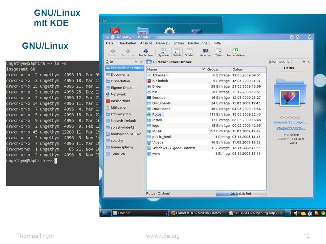Thomas Thymwww.kde.org 12 GNU/Linux mit KDE