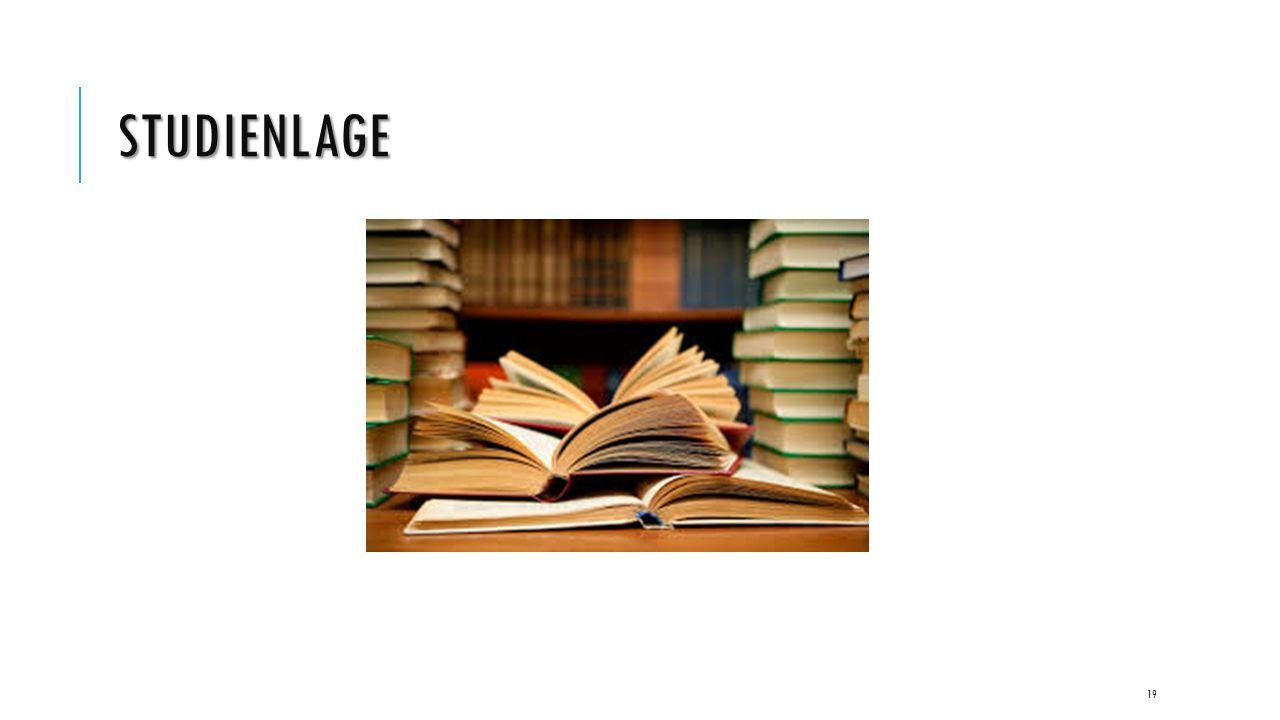 STUDIENLAGE 19