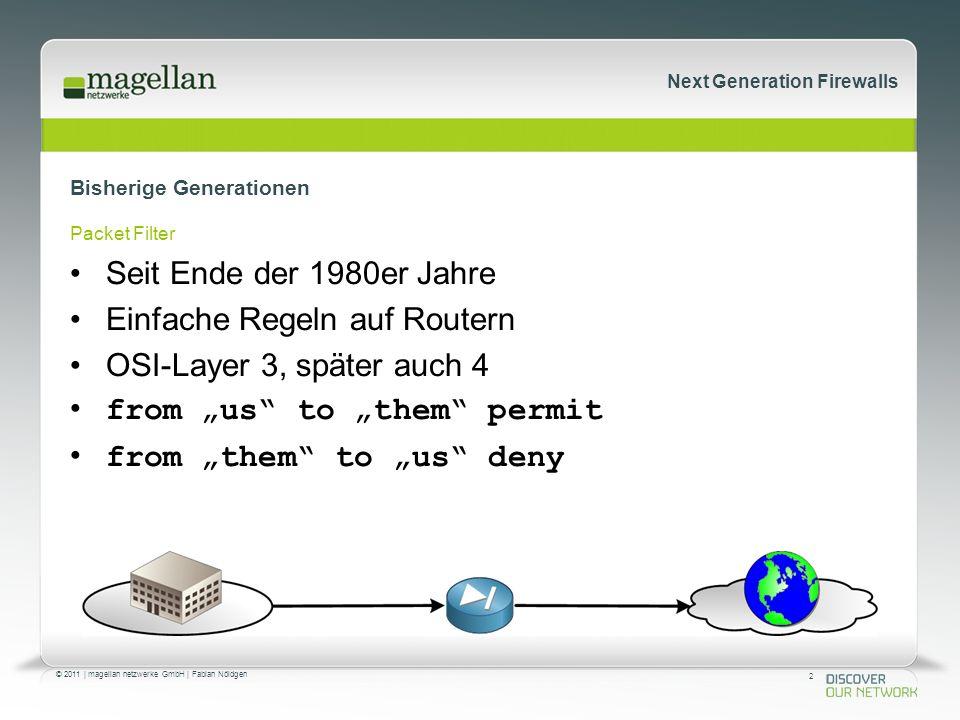 73 © 2011   magellan netzwerke GmbH   Fabian Nöldgen Next Generation Firewalls