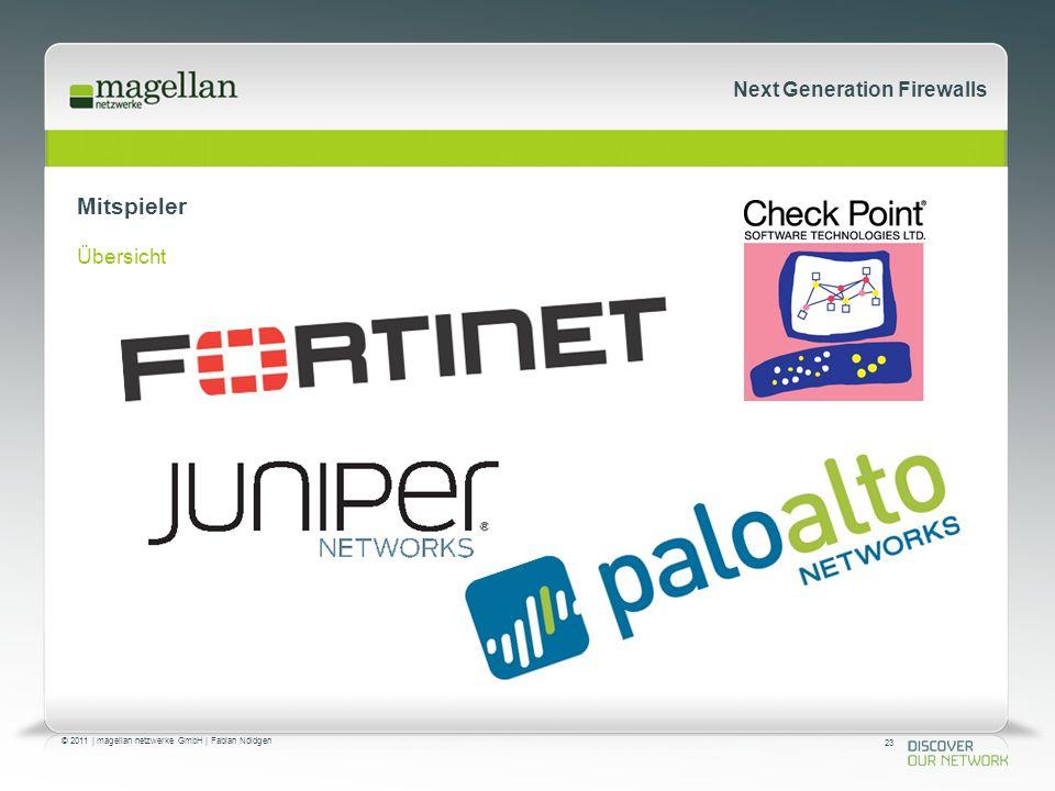 23 © 2011 | magellan netzwerke GmbH | Fabian Nöldgen Next Generation Firewalls Mitspieler Übersicht