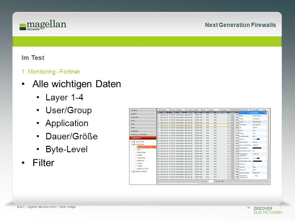 34 © 2011 | magellan netzwerke GmbH | Fabian Nöldgen Next Generation Firewalls Im Test 1.