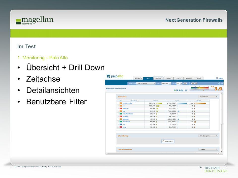 40 © 2011 | magellan netzwerke GmbH | Fabian Nöldgen Next Generation Firewalls Im Test 1.