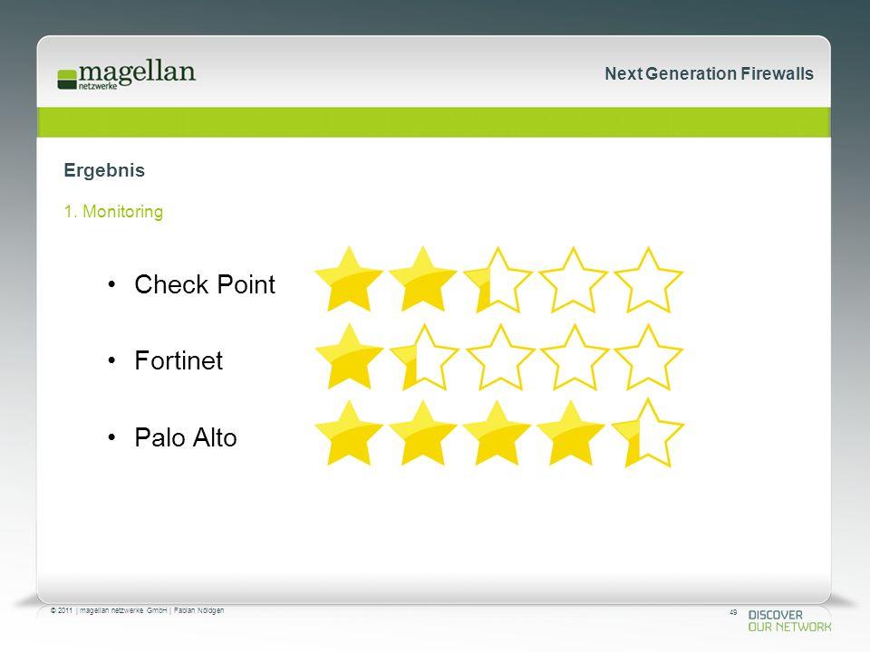 49 © 2011 | magellan netzwerke GmbH | Fabian Nöldgen Next Generation Firewalls Ergebnis 1.
