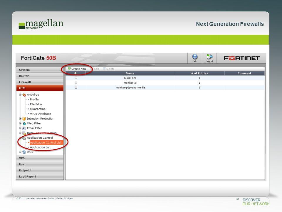 61 © 2011 | magellan netzwerke GmbH | Fabian Nöldgen Next Generation Firewalls Anforderungen 2.