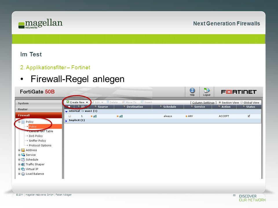 65 © 2011 | magellan netzwerke GmbH | Fabian Nöldgen Next Generation Firewalls Im Test 2.