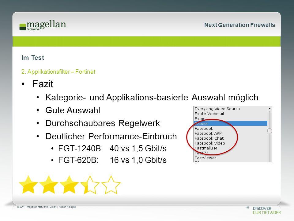 68 © 2011 | magellan netzwerke GmbH | Fabian Nöldgen Next Generation Firewalls Im Test 2.
