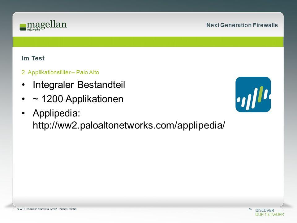 69 © 2011 | magellan netzwerke GmbH | Fabian Nöldgen Next Generation Firewalls Im Test 2.