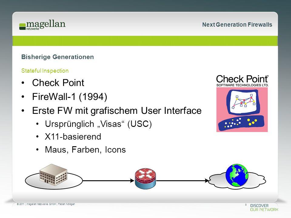 29 © 2011   magellan netzwerke GmbH   Fabian Nöldgen Next Generation Firewalls Mitspieler Substanzlos in der Wolke Virtualisierte Firewalls HerstellerModellmin.