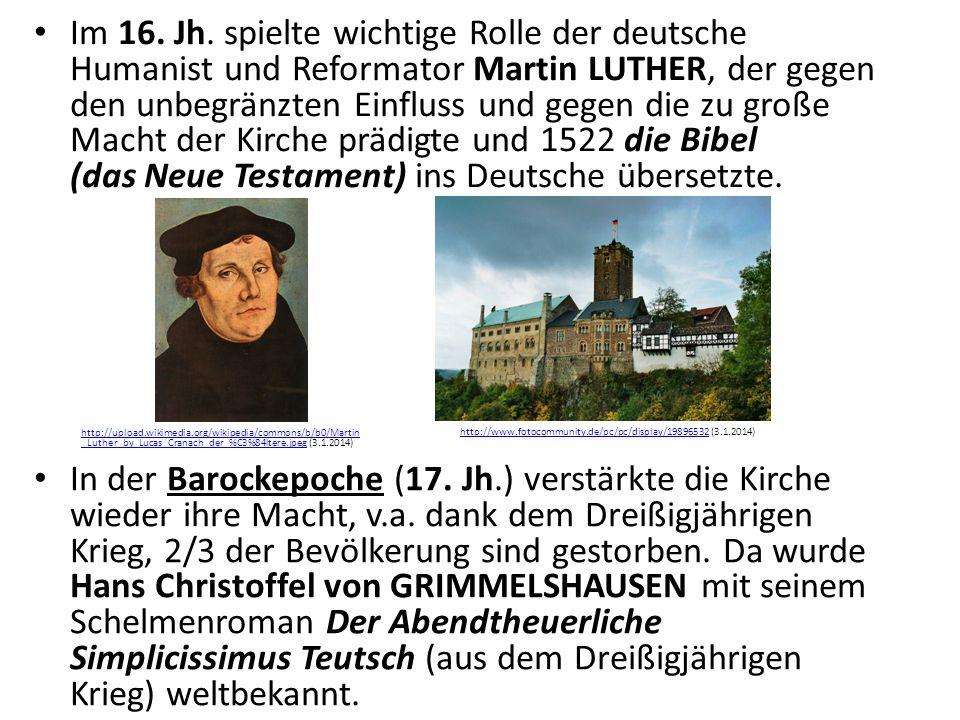 In der Barockepoche (17. Jh.) verstärkte die Kirche wieder ihre Macht, v.a.