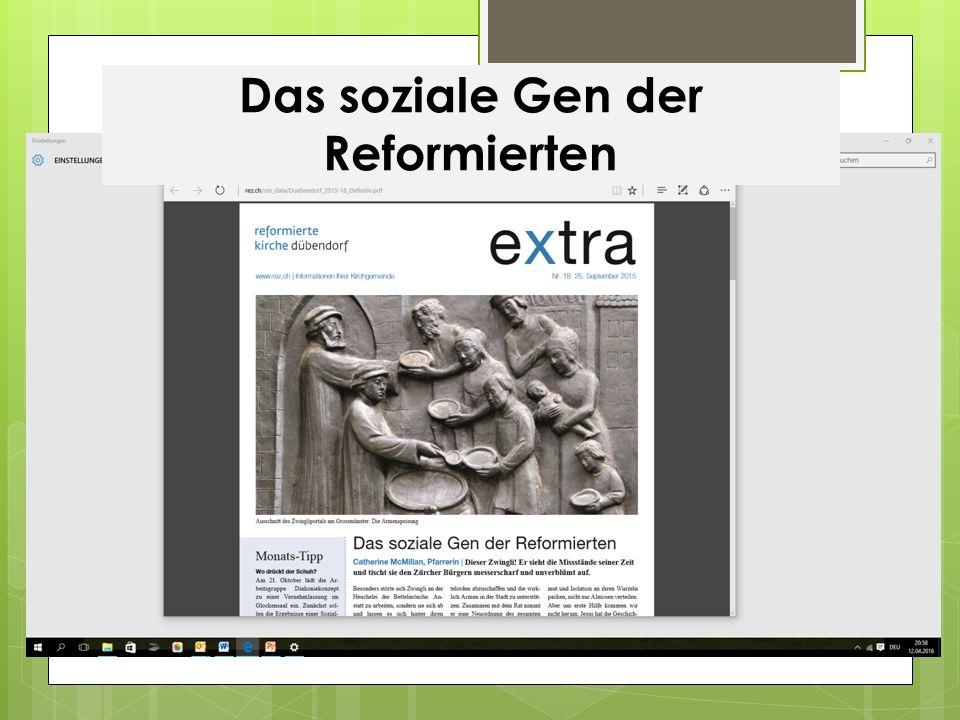 Das soziale Gen der Reformierten