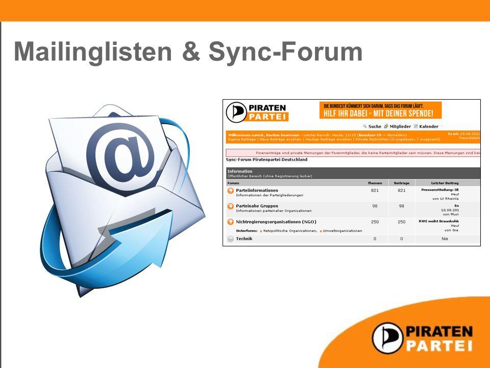 Mailinglisten & Sync-Forum