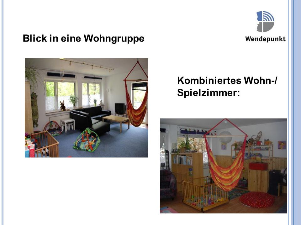 Blick in eine Wohngruppe Kombiniertes Wohn-/ Spielzimmer: