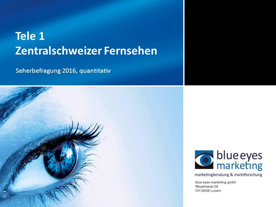 Tele 1 Zentralschweizer Fernsehen Seherbefragung 2016, quantitativ