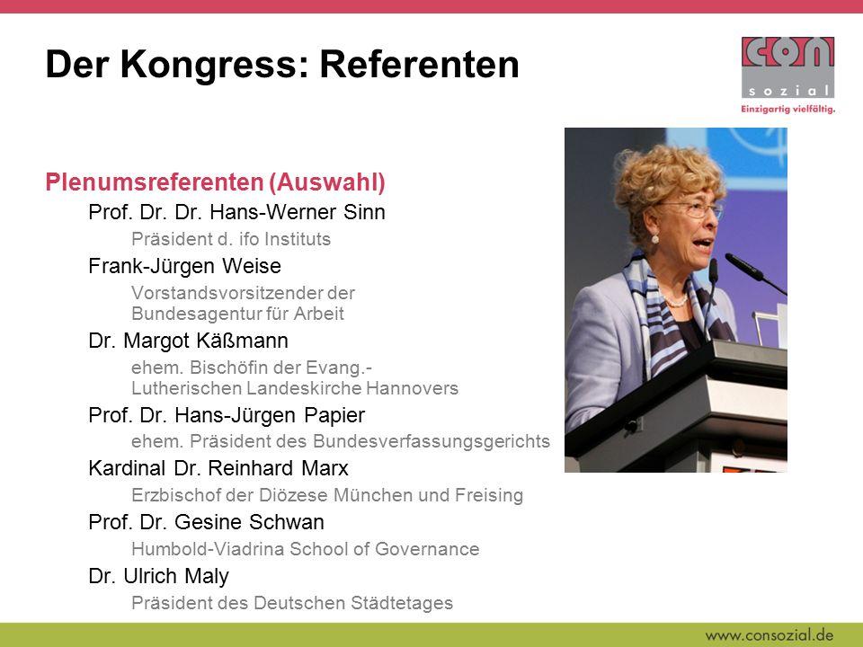 Der Kongress: Referenten Plenumsreferenten (Auswahl) Prof.