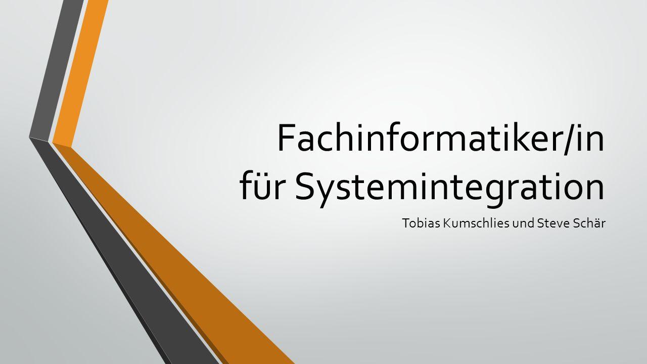 Fachinformatiker/in für Systemintegration Tobias Kumschlies und Steve Schär