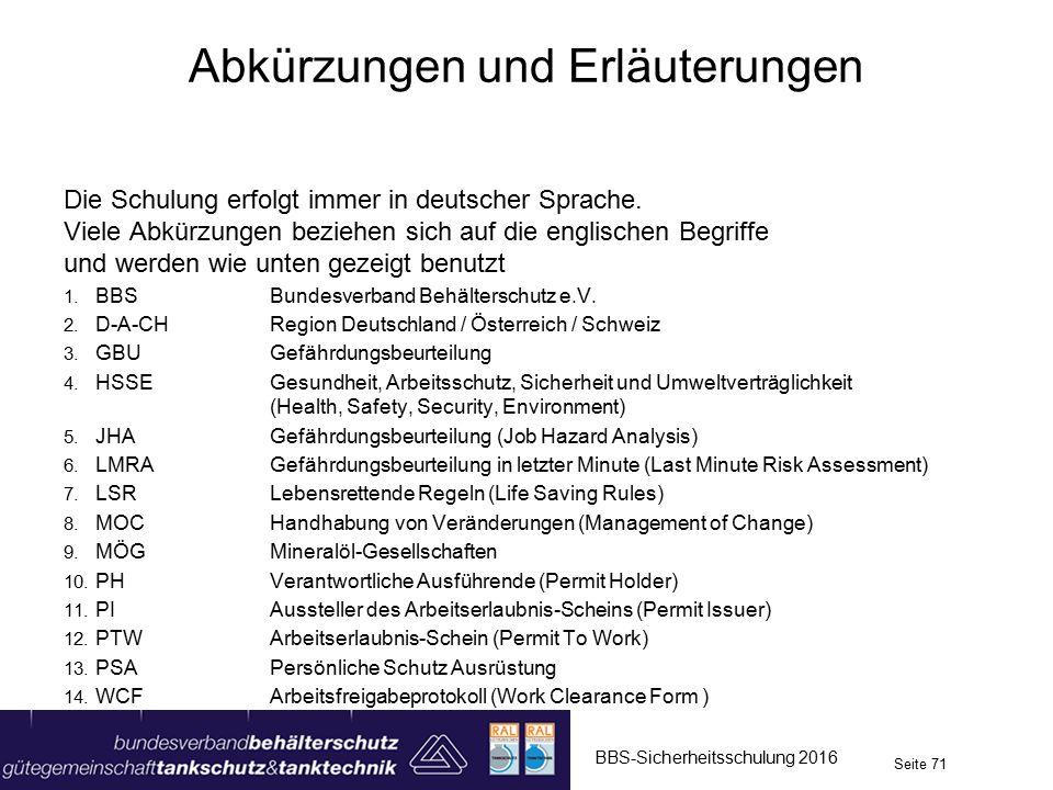 Die Schulung erfolgt immer in deutscher Sprache.