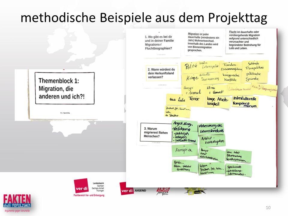 methodische Beispiele aus dem Projekttag 10