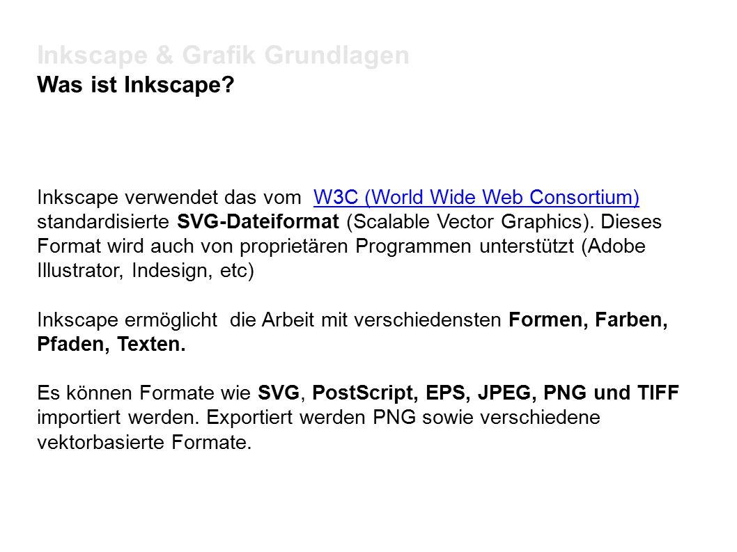 Inkscape & Grafik Grundlagen Schriften Jede/r sollte wissen wo die eigenen Schriften verwaltet werden Unter Linux /usr/share/fonts /usr/share/fonts/truetype Unter Windows c:/Windows/Fonts Unter Mac Applications/