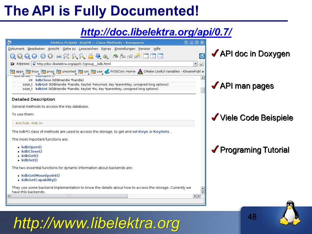 The API is Fully Documented.