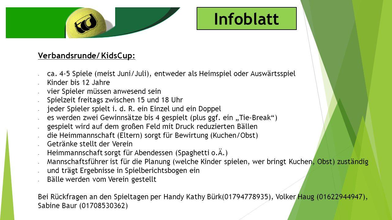 Infoblatt Verbandsrunde/ KidsCup: - ca.