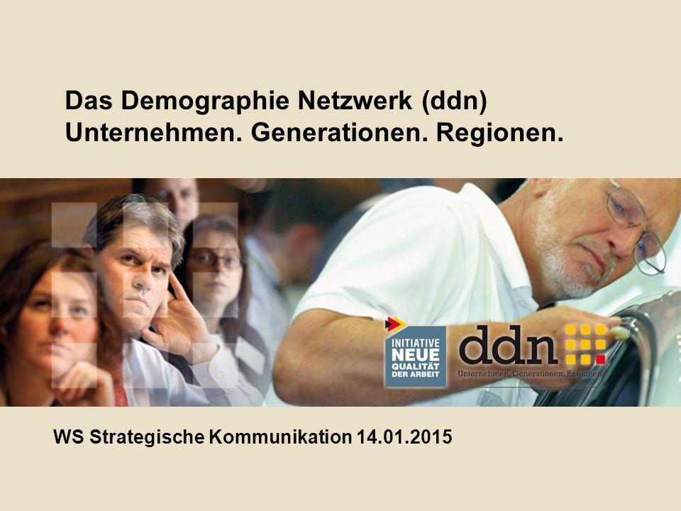 Das Demographie Netzwerk (ddn) Unternehmen. Generationen.
