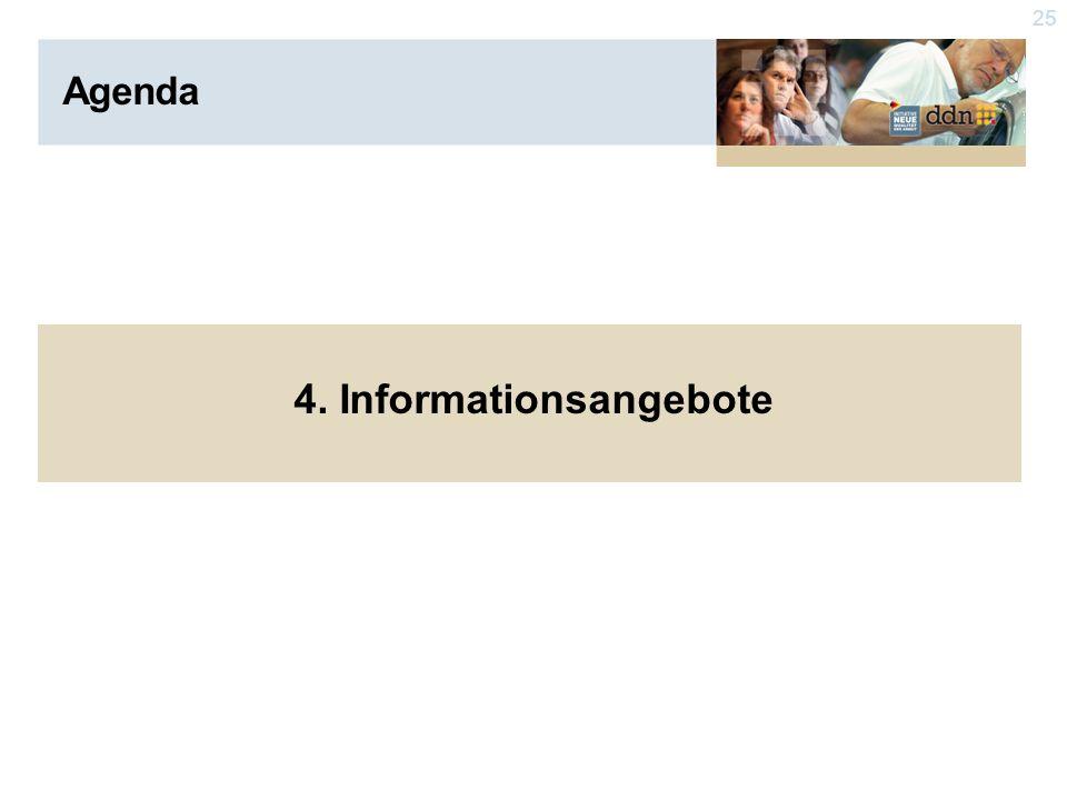 25 Agenda 4. Informationsangebote