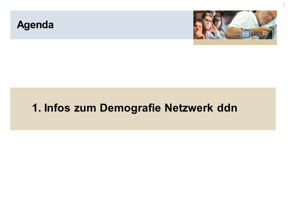 3 Agenda 1. Infos zum Demografie Netzwerk ddn