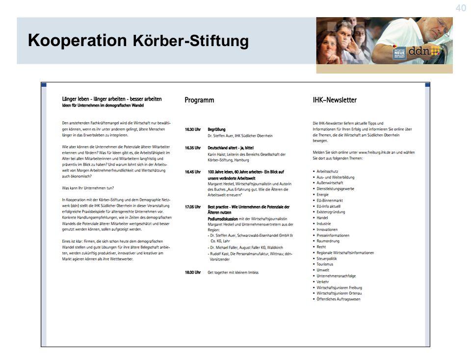 40 Kooperation Körber-Stiftung
