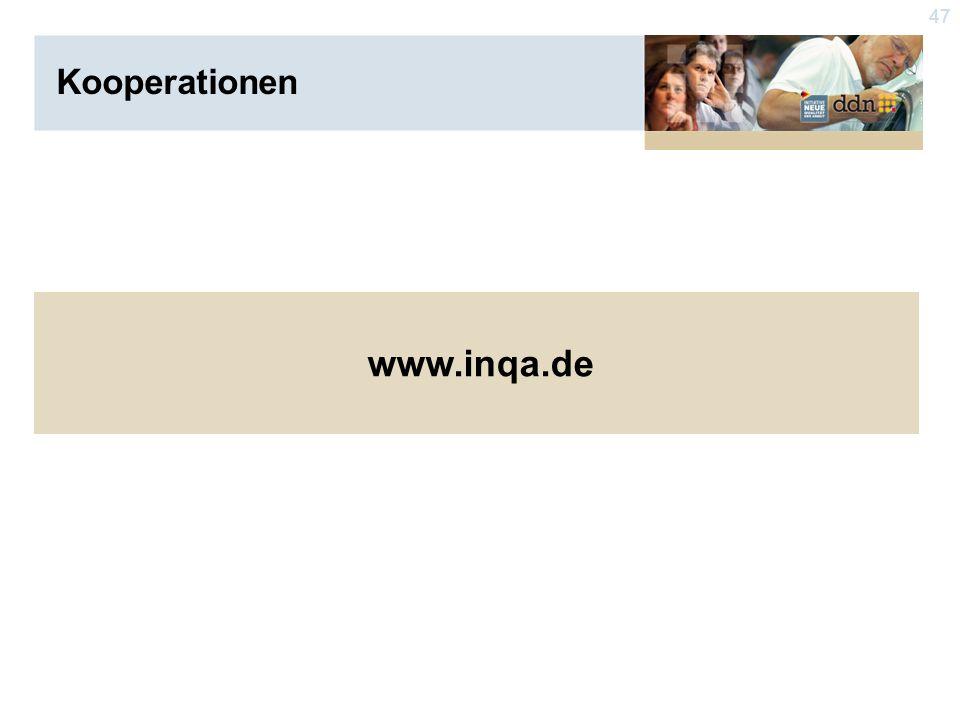 47 www.inqa.de Kooperationen
