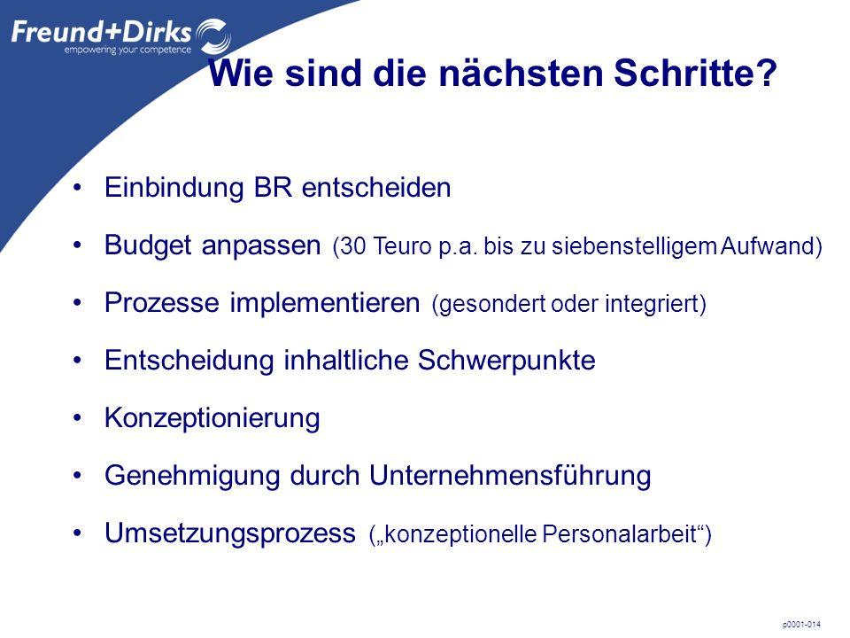 p0001-014 Wie sind die nächsten Schritte. Budget anpassen (30 Teuro p.a.