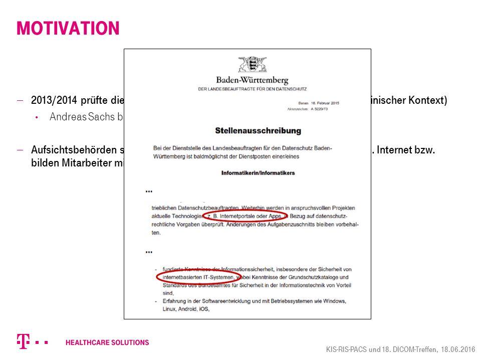  Arbeitsgruppe innerhalb des Arbeitskreises Medizin der GDD gebildet  Erster Vorschlag für Word-Dokument wurde erarbeitet und wird derzeit diskutiert  Zeitplanung/Zielsetzung seitens GDD 1) GDD: Erarbeitung der Version, die an bvitg übergeben wird, bis Ende Juli 2) bvitg: Erarbeitung Beispiel(e) für technische Umsetzung bis Ende November 3) bvitg, GDD, GMDS, IHE: Harmonisierung der Ergebnisse  Gibt es technische Hindernisse bzgl.