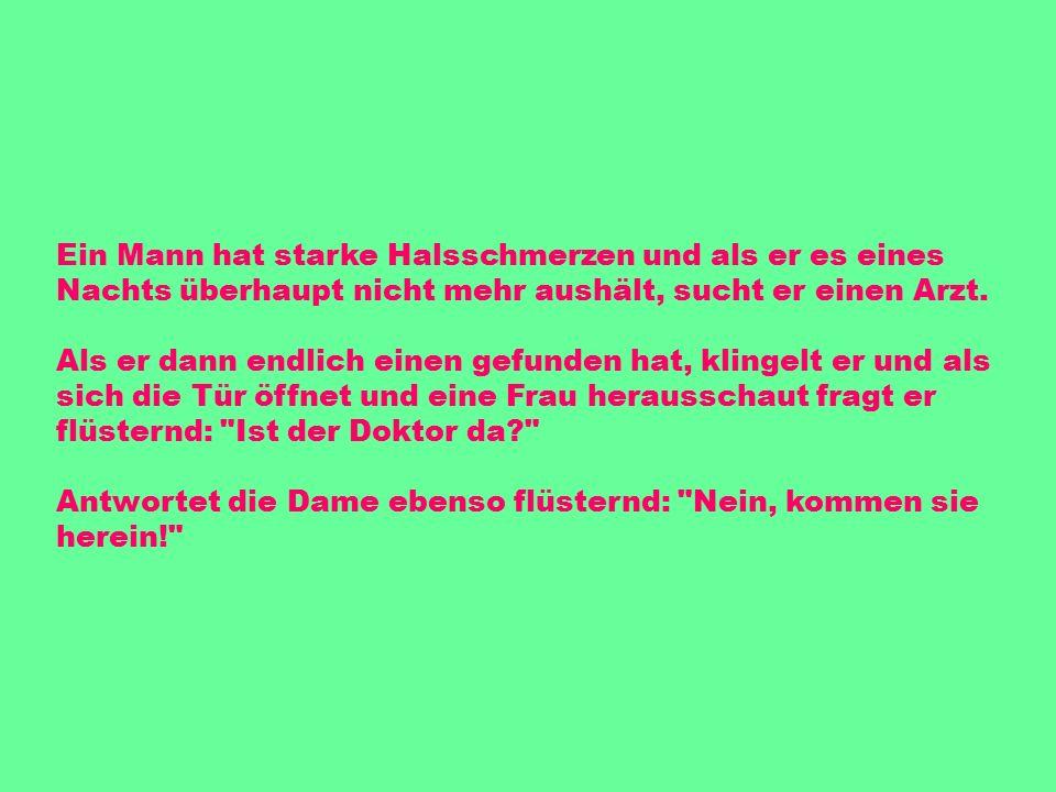 Eigentlich war ich mir immer sicher, dass meine Frau treu ist, aber jetzt habe ich doch bedenken. Wieso Letzte Woche sind wir von Hamburg nach Stuttgart gezogen, und wir haben immer noch denselben Briefträger!