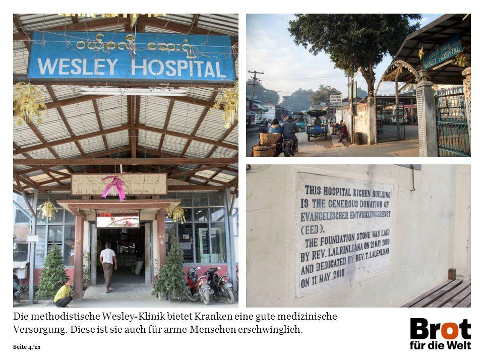 Seite 4/21 Die methodistische Wesley-Klinik bietet Kranken eine gute medizinische Versorgung.