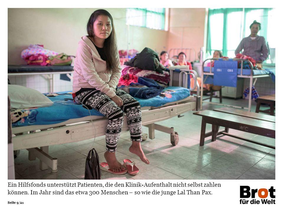 Seite 20/21 Sie sahen eine Präsentation zum Projekt des Projektpartners Wesley-Klinik aus Myanmar.