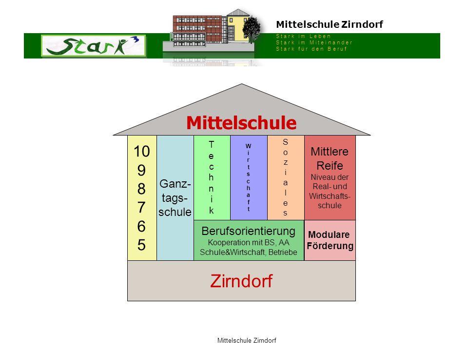 Mittelschule Zirndorf S t a r k i m L e b e n S t a r k i m M i t e i n a n d e r S t a r k f ü r d e n B e r u f Mittelschule Zirndorf Ganz- tags- sc