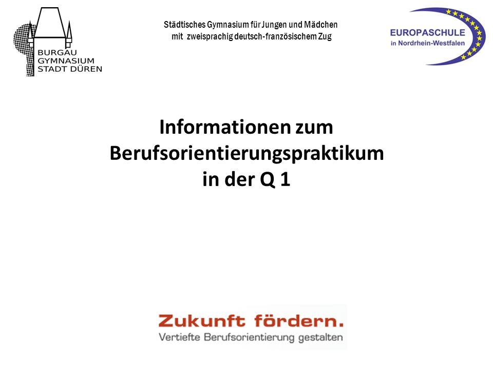 Duales Orientierungspraktikum (DOP) Abgabe des Antrages zur Teilnahme bis 20.