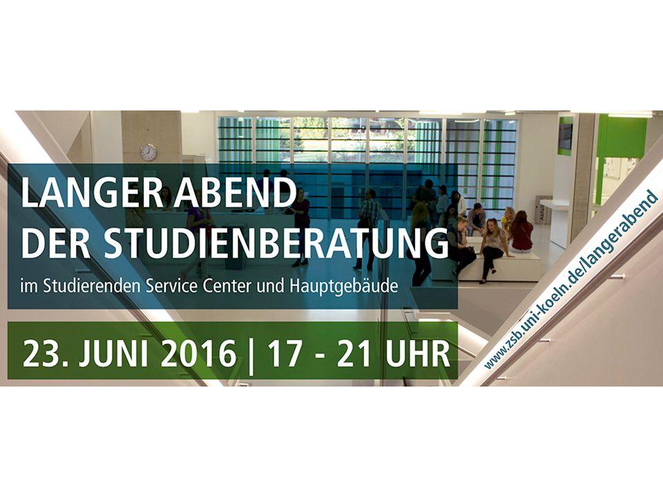 Wochen der Studienorientierung 2017 Die nächsten Wochen der Studienorientierung finden an der Universität zu Köln vom 16.