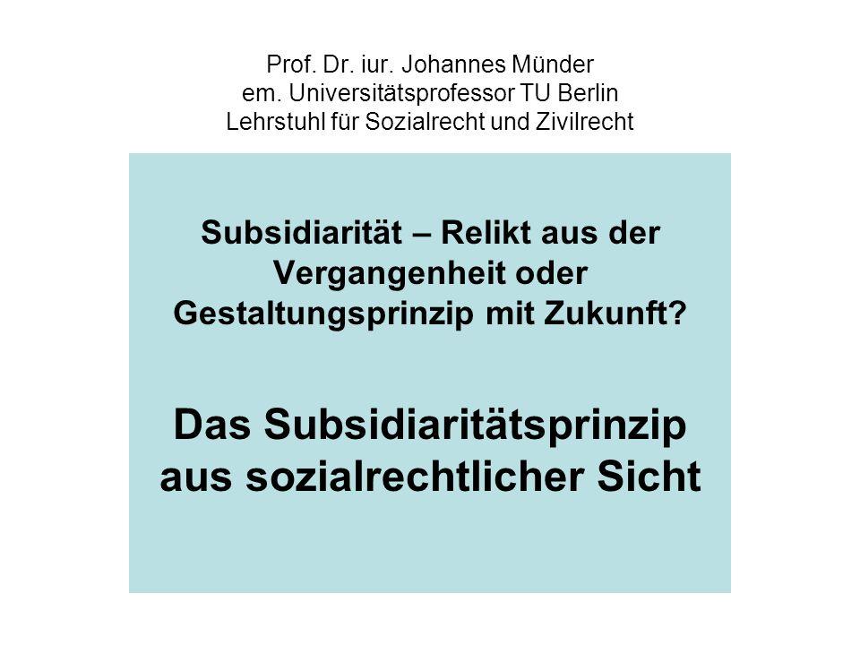 Prof. Dr. iur. Johannes Münder em.