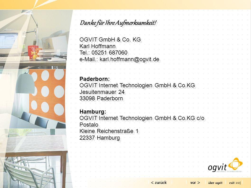 Danke für Ihre Aufmerksamkeit. OGVIT GmbH & Co.