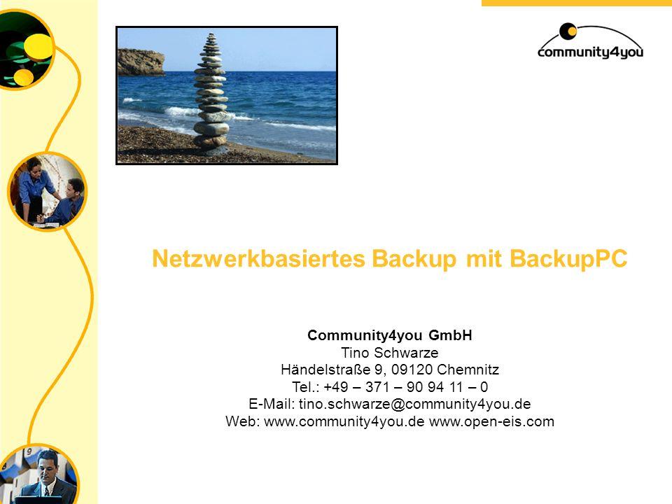 Community4you GmbH Jacqueline Paczko / Rico Lieberwirth Händelstraße 9, 09120 Chemnitz Tel: +49 (0) 371 909411-0 email: jacqueline.paczko@community4yo