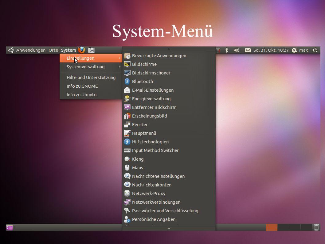 System-Menü
